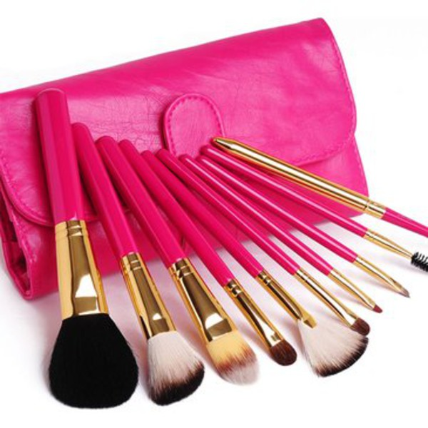 make-up brush set bag