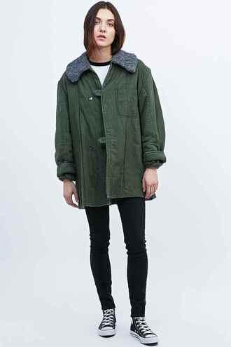 jacket urban outfitters moumoute green jacket stylish