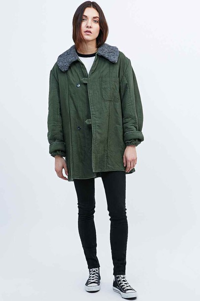 jacket urban outfitters moumoute green jacket stylish