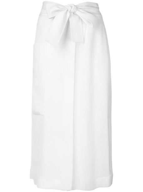 Joseph skirt women midi nude silk