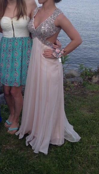 fashion dress prom dress sequins silver dress long dress homecoming dress gold dress long prom dress champagne dress