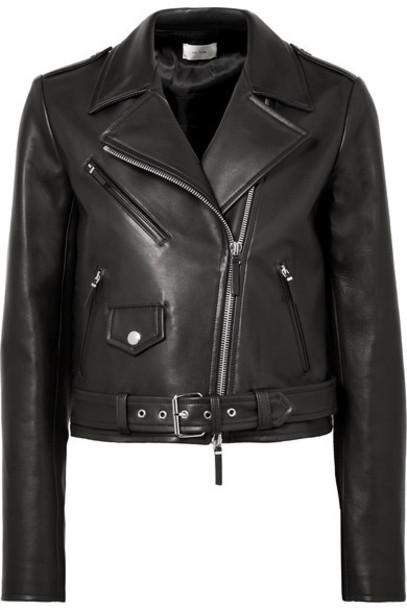 The Row jacket biker jacket leather black