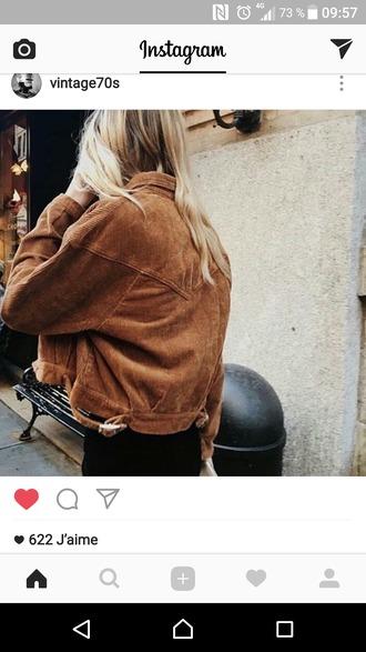 jacket brown blonde hair pretty
