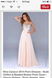 dress,prom dress sparkle cream