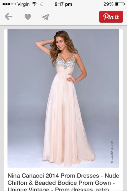dress prom dress sparkle cream