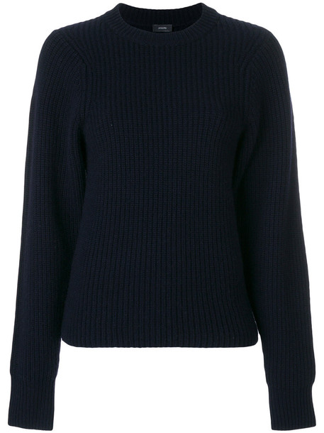 Joseph sweater women blue silk wool knit
