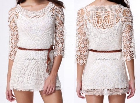 Outletpad | White Lace crochet dress | Online Store Powered by Storenvy