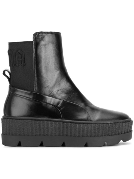 Fenty x Puma women leather black shoes