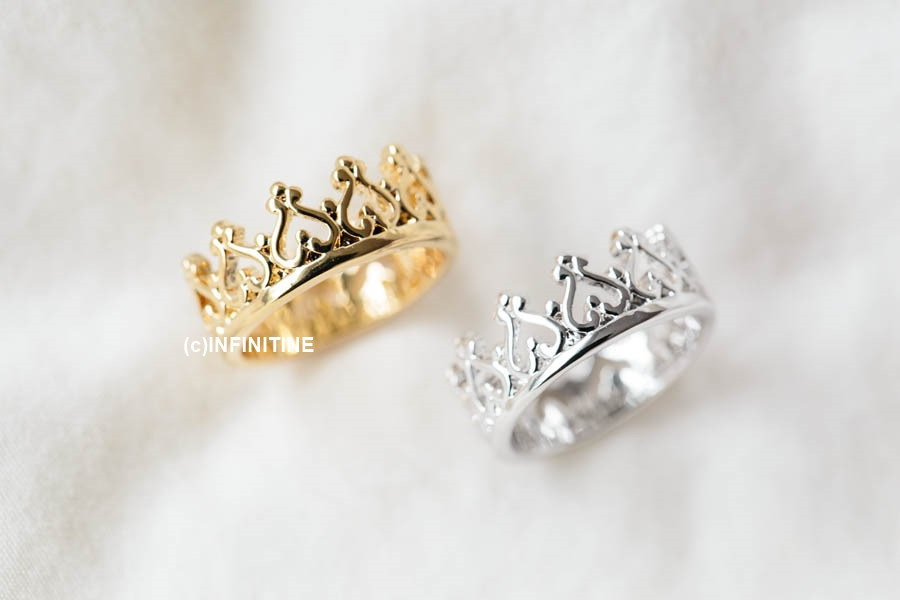 Heart crown knuckle ring,rn2520