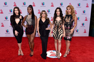 dress gown prom dress camila cabello grammys 2016 fifth harmony lauren jauregui dinah jane hansen dinah hansen ally brooke normani hamilton normani kordei hamilton keyhole dress plunge dress mini dress bodycon dress