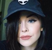hat,acacia brinley,alien,alien hat,alien cap,aliens grunge,alien face