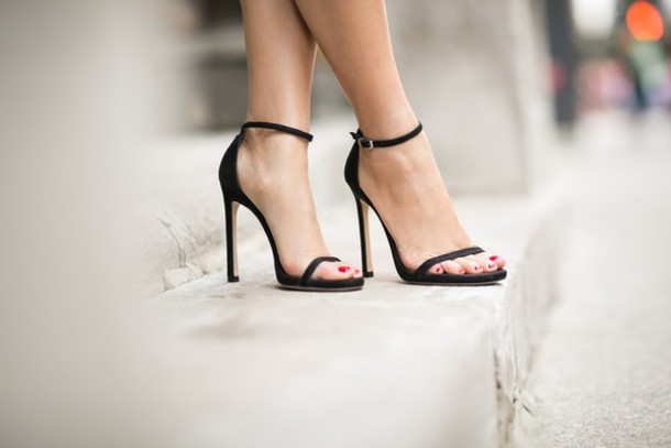 Casual Black High Heels