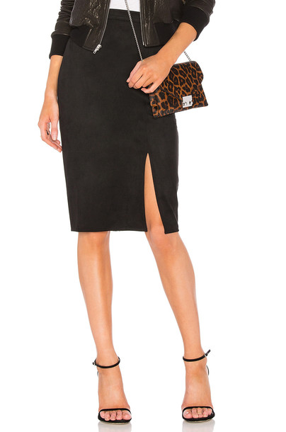 AIRLIE skirt pencil skirt suede black