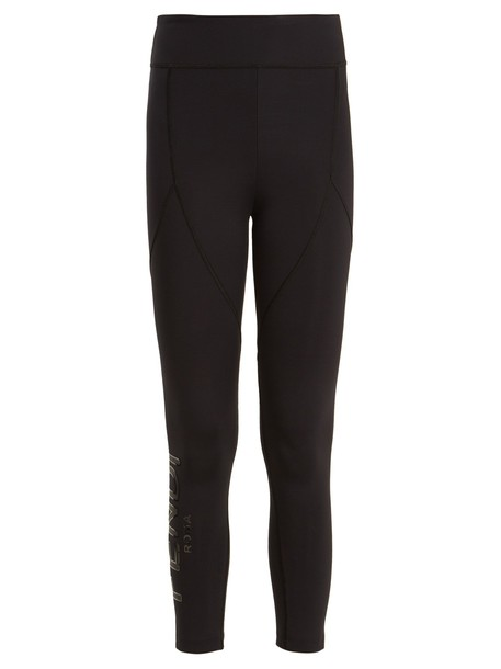 Fendi leggings cropped print black pants
