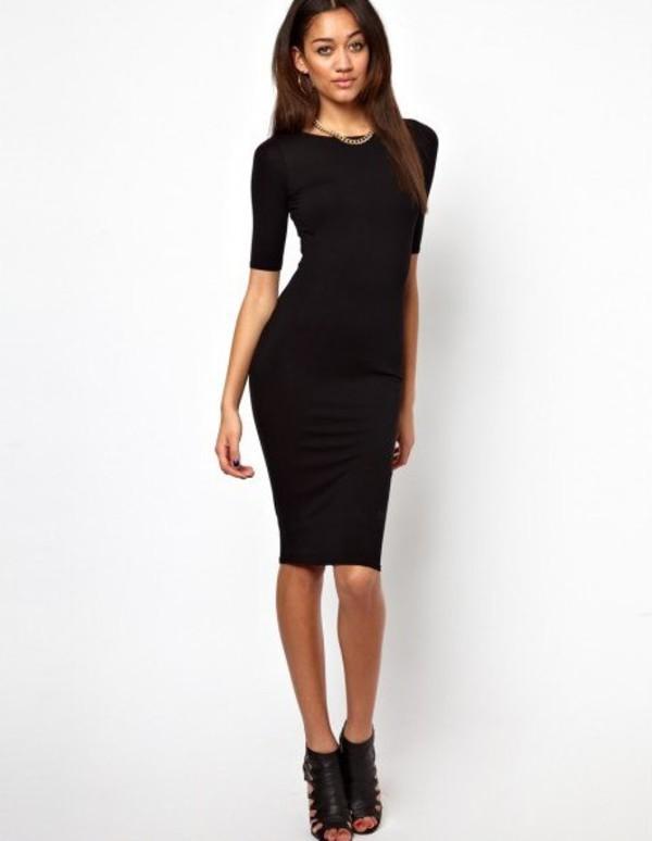 Купить Платье Приталенное Ниже Колен