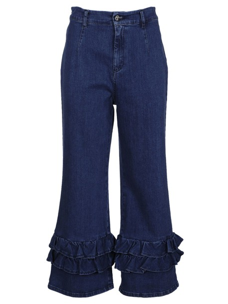 VIVETTA jeans cropped jeans cropped ruffle