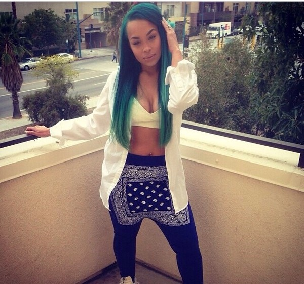 pants urban bandana print heather sanders du rag harem pants harem pants du-rag blue bandana black pants