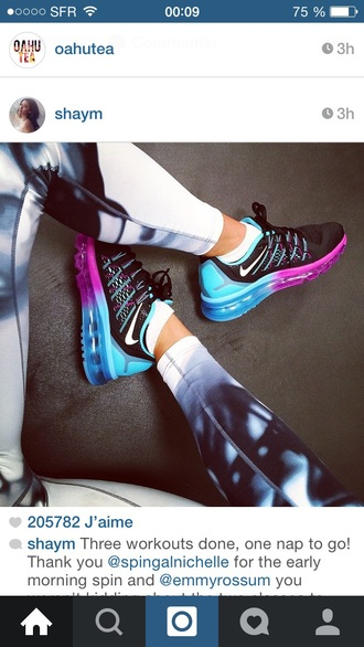 shoes nike air nike shoes leggings pink blue air max black nike gym sneakers trainers bag