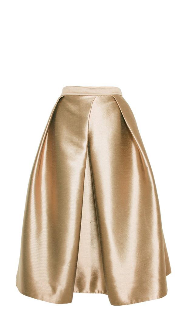Tibi Halcyon Taffeta Full Skirt