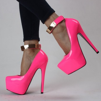 Hot Neon High Heel Pumps