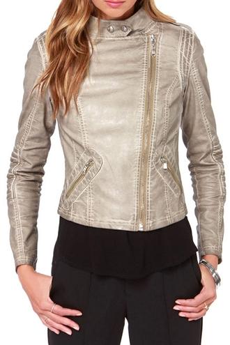 jacket zaful leather jacket leather faux leather motorcycle zip alternative alternative rock