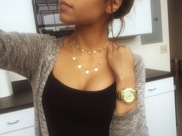 jewels necklace chocker jewelry coin double layered double layer coin necklace accessories