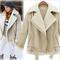 Online shop women winter jacket fashion faux sheepskin shearling coat ladies thick lamb fur collar fleece suede zipper coat|aliexpress mobile