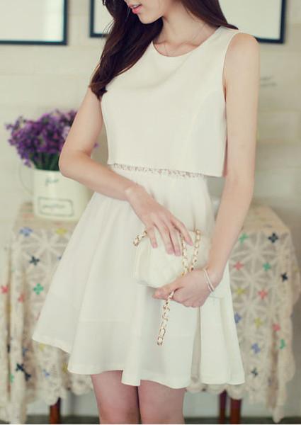 #108 sleeveless sexy lace dress