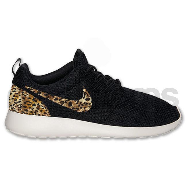 Nike Roshe Run Black Anthracite Leopard Animal Print ...
