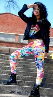pants,leggings,colorful,flashy