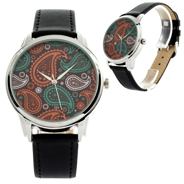 jewels ziziztime watch watch turkish pattern orange green cream ziz watch turquoise