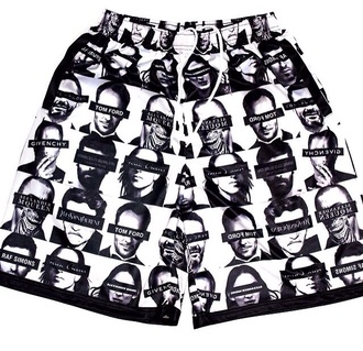 shorts mesh designers alexander mcqueen givenchy
