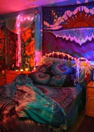 home accessory bedding bedroom hipster hippie love tie dye tumblr teen bedrooms tumblr fashion tumblr room style trendy spring boho boho bedding hipp