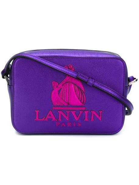 women bag crossbody bag leather cotton purple pink