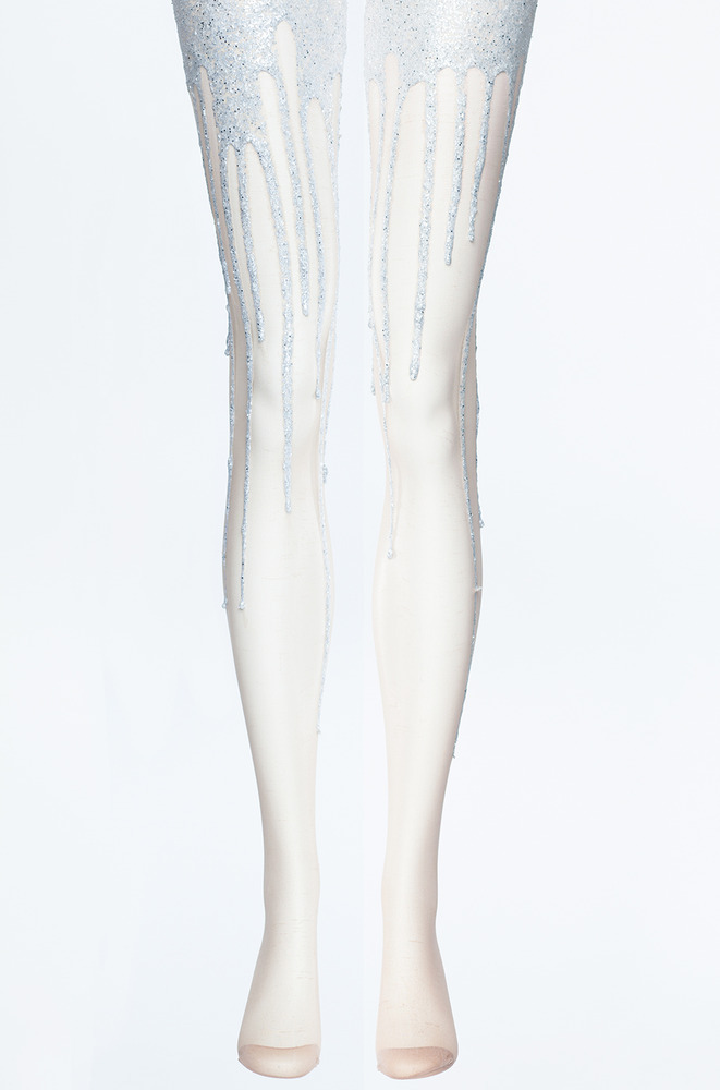 Glitter melt melting tights