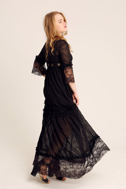 bd1e7f4b7e0e dress boho dress bohemian dress lace dress lace bralette black dress maxi  dress long dress maxi
