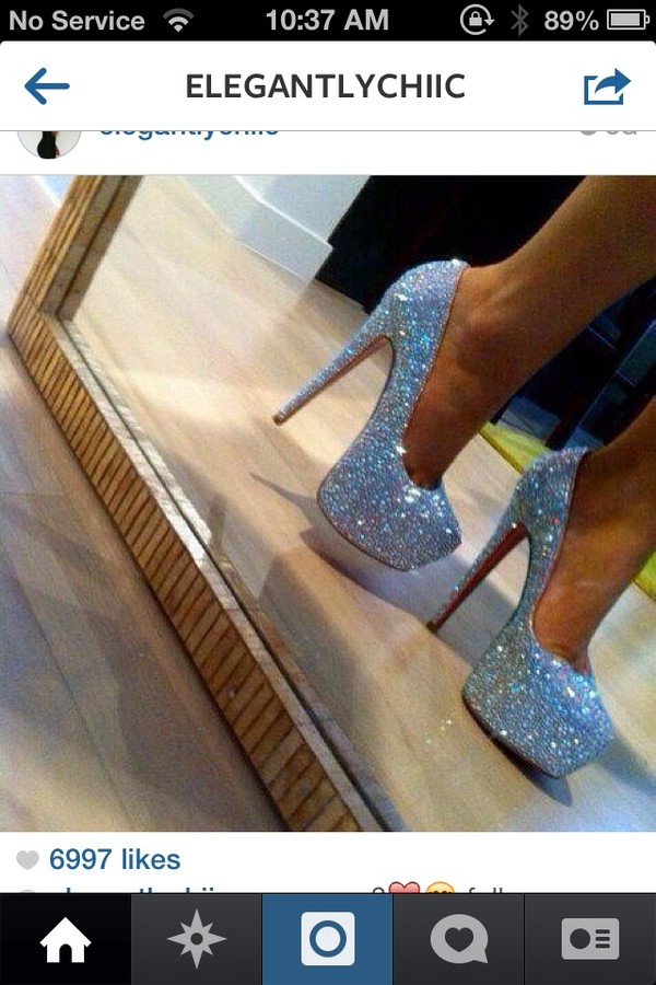 shoes sparkle high heels glitter fancy