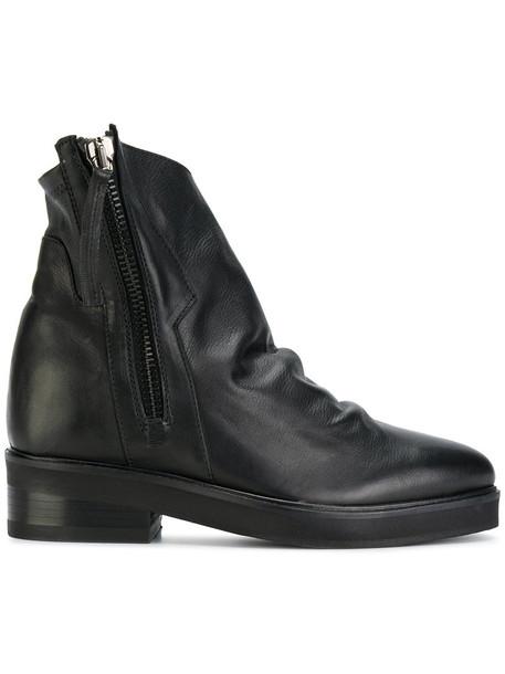 CINZIA ARAIA zip women leather black shoes