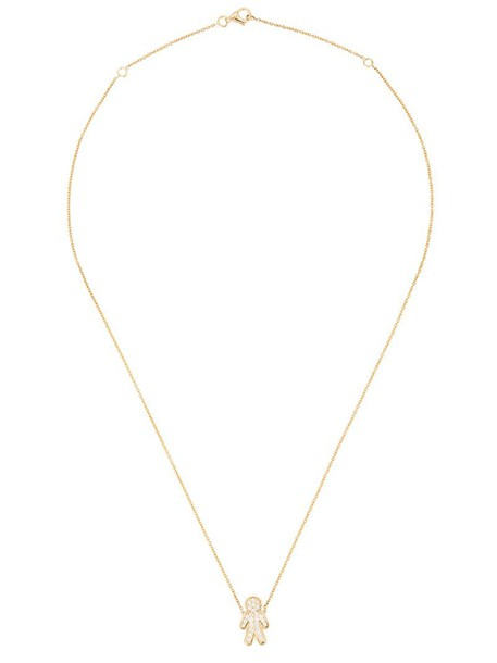 Alinka women necklace pendant gold yellow grey metallic jewels