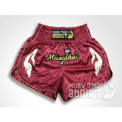 shorts,maroon and gold flames shorts - muay thai addict,muay thai shorts,gold muay thai shorts,marron muay thai shorts