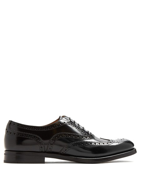 Church's leather black shoes