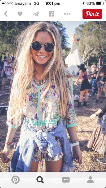 jumpsuit romper pants shirt boho bohemian blonde hair