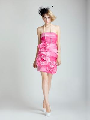 Buy Adorable Sheath/Column Strapless Knee Length Prom Dress under 200-SinoAnt.com