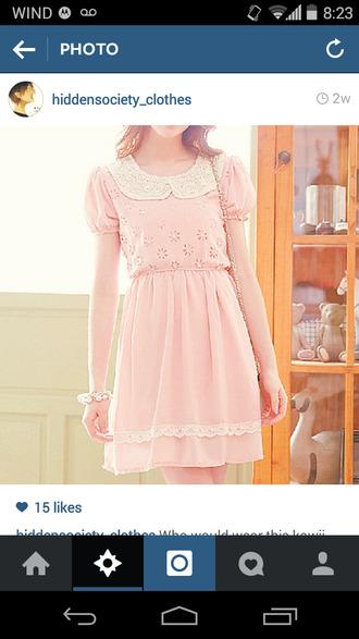 doll peter pan collar peter pan collar dress pink dress white dress white collar lace dress
