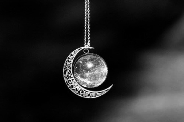 jewels necklace moon and sun