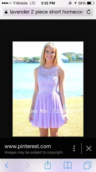 dress lavander dress silk lavander homecoming dress