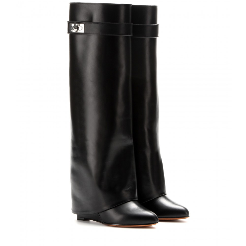 Pant leather wedge boots ► givenchy ∫ mytheresa.com