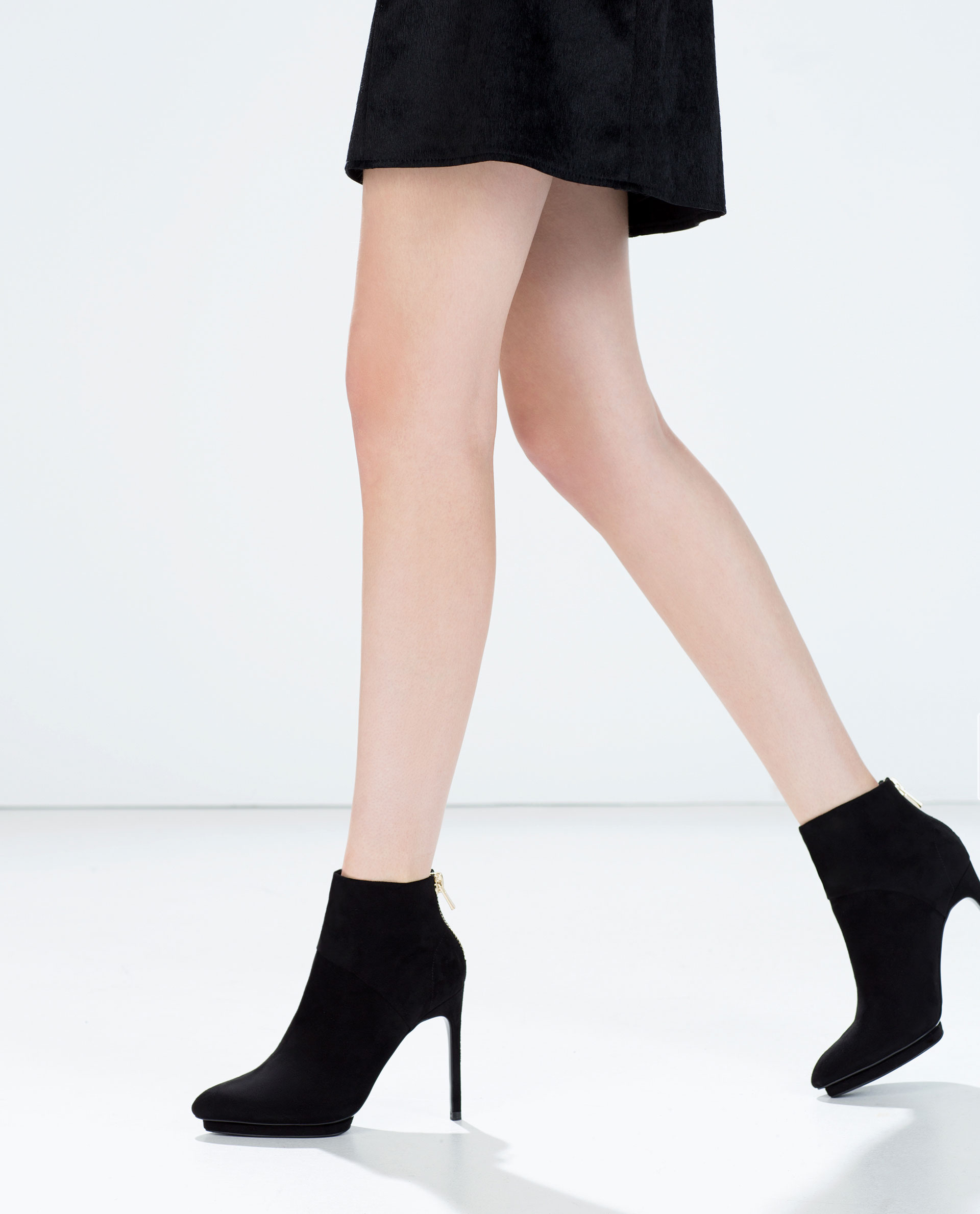 High heel platform ankle boot