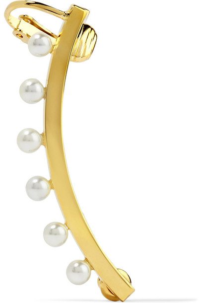 Chloe cuff pearl ear cuff gold white jewels
