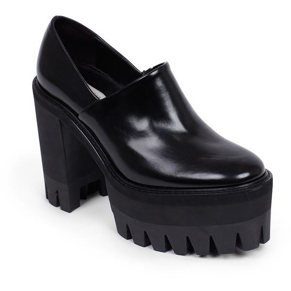 Stella McCartney Shiny Faux Leather Platform Clogs - Polyvore